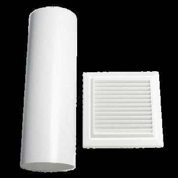Ventwall 125mm flue 450mm long