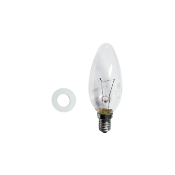 Kit lamp 40w candle 240v clear