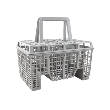 Basket cutlery grey complete
