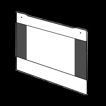 Door oven outer glass