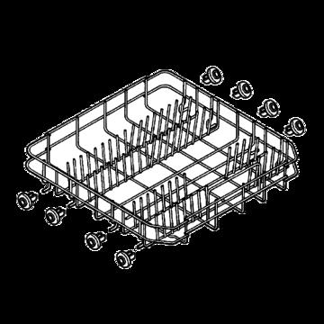 Basket dishwasher bottom grey